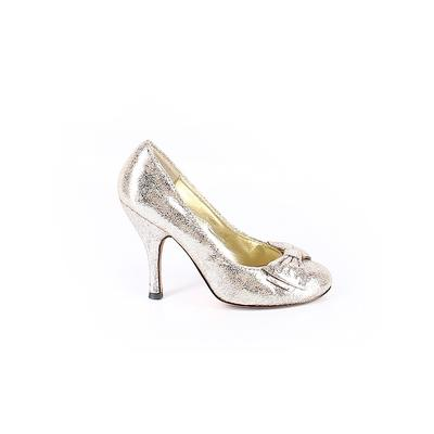 Steven by Steve Madden Heels: Silver Shoes - Size 7