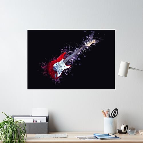 E-Gitarre Kunst Poster