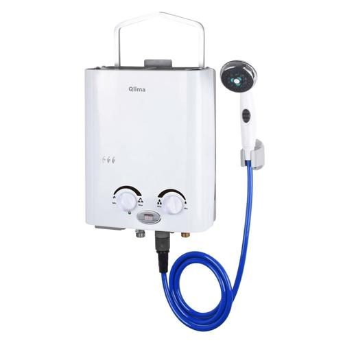 Qlima Tragbarer Gas-Durchlauferhitzer PGWH 1010 Weiß
