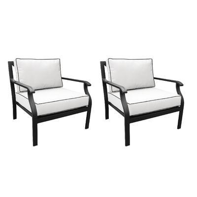 Madison Ave. Club Chair in Snow (Set of 2) - TK Classics Ki062B-Cc-Db