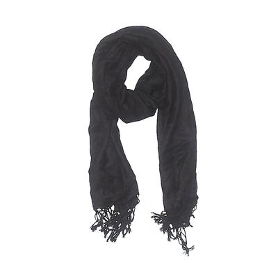 Scarf: Black Solid Accessories