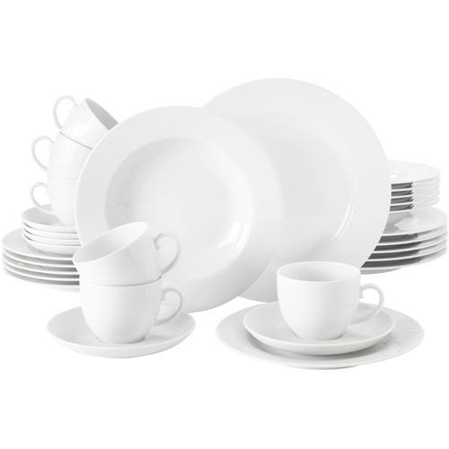 Seltmann Weiden Kombiservice Rondo, (Set, 30 tlg.) weiß Geschirr-Sets Geschirr, Porzellan Tischaccessoires Haushaltswaren