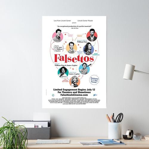 Falsettos im Theaterplakat Poster