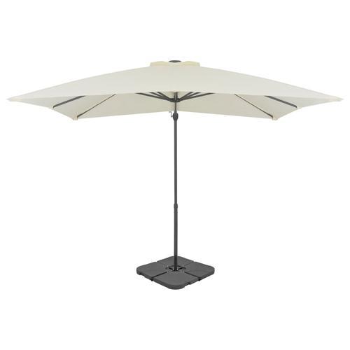 vidaXL Sonnenschirm mit Schirmständer Sand