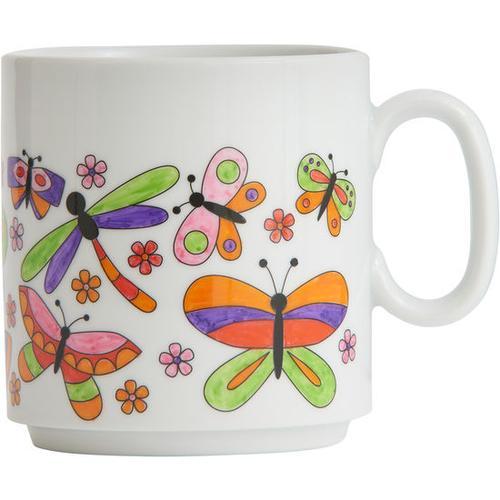 JAKO-O Ausmaltasse Schmetterlinge, weiß