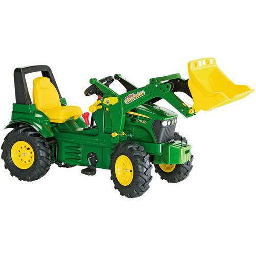 rolly® toys Trettraktor John Deere mit Zweigangschaltung & Luftreifen, grün