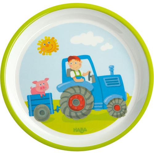 HABA Teller Traktor, bunt