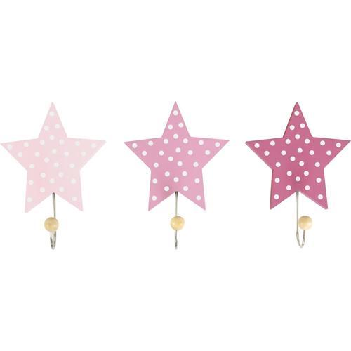 JAKO-O Wandhaken Sterne, pink