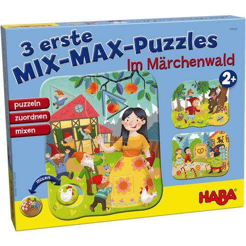 HABA 3 erste Mix-Max-Puzzles – Im Märchenwald, bunt