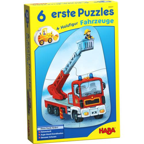 HABA 6 erste Puzzles - Fahrzeuge, bunt