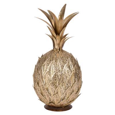 Statuette ananas en métal dor...
