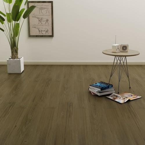 vidaXL PVC Laminat Dielen Selbstklebend 4,46 m² 3 mm Braun