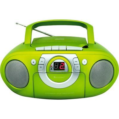 CD-Boombox mit Radio + Kassetten...