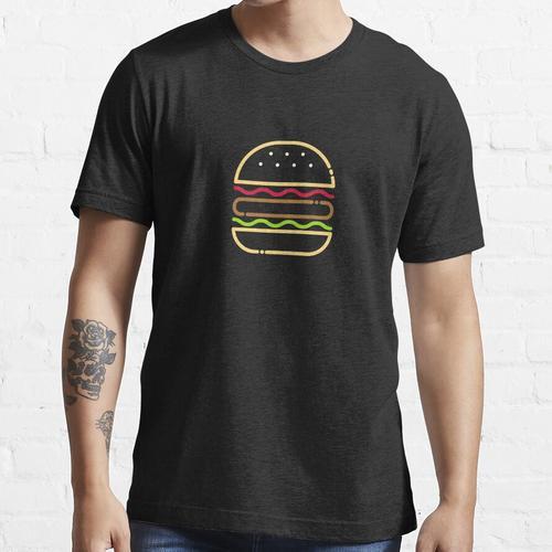 Minimalistischer Burger (kalorienarm) Essential T-Shirt