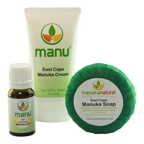 Manuka Naturals Mittel gegen Ringelflechte - Set mit Seife, Öl und Creme