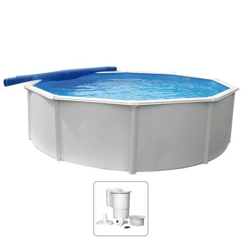 KWAD Schwimmbad Steely Deluxe Rund 5,5 x 1,2 m