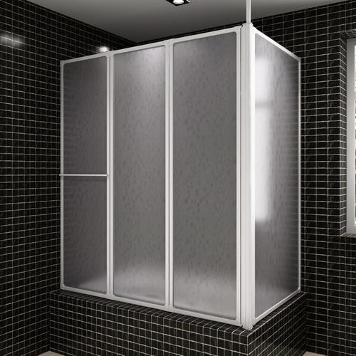 vidaXL Duschwand Duschabtrennung 70 x 120 x 140 cm 4 Faltwände