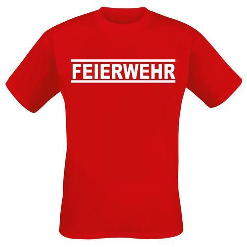 Feierwehr Herren-T-Shirt - rot