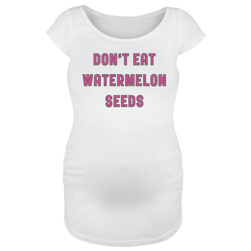 Umstandsmode Don`t Eat Watermelon Seeds Damen-T-Shirt - weiß