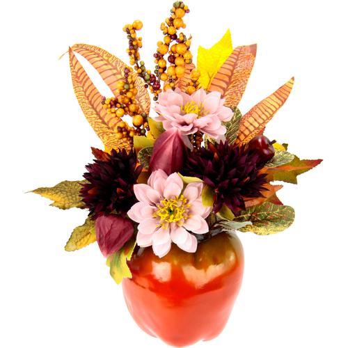I.GE.A. Kunstpflanze, im Apfeltopf rot Künstliche Zimmerpflanzen Kunstpflanzen Wohnaccessoires Kunstpflanze