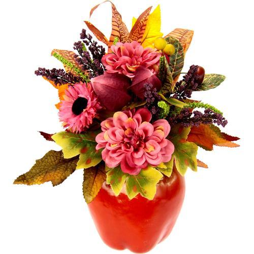 I.GE.A. Kunstpflanze, im Apfeltopf rosa Künstliche Zimmerpflanzen Kunstpflanzen Wohnaccessoires Kunstpflanze