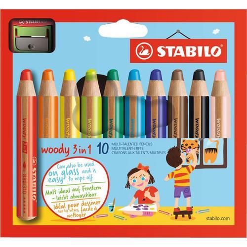 STABILO® Woody 3 in 1, bunt