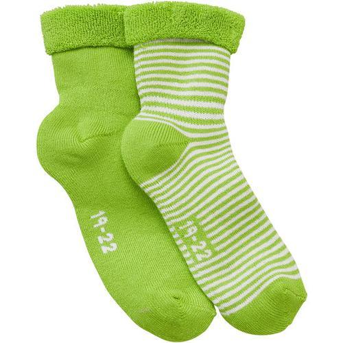 Frottee-Socken, grün, Gr. 12/14