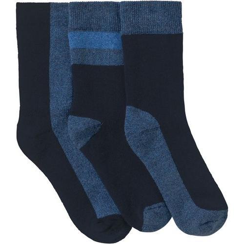 Frottee-Socken, blau, Gr. 19/22