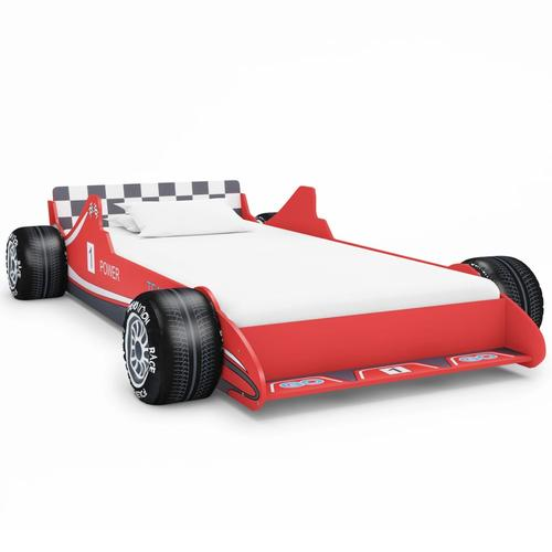 vidaXL Kinderbett im Rennwagen-Design 90 x 200 cm Rot