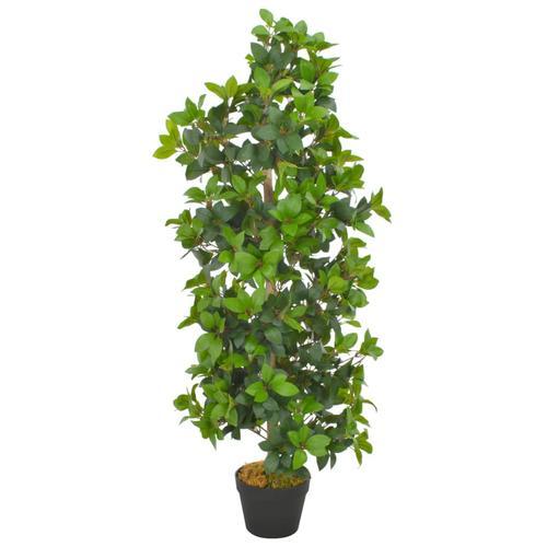vidaXL Künstliche Pflanze Lorbeerbaum mit Topf Grün 120 cm