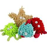 Multipet Sea Shammies Assorted Animals Squeaky Plush Dog Toy, Character Varies