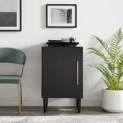 Everett Record Player Stand In Matte Black - Crosley CF1104-MB