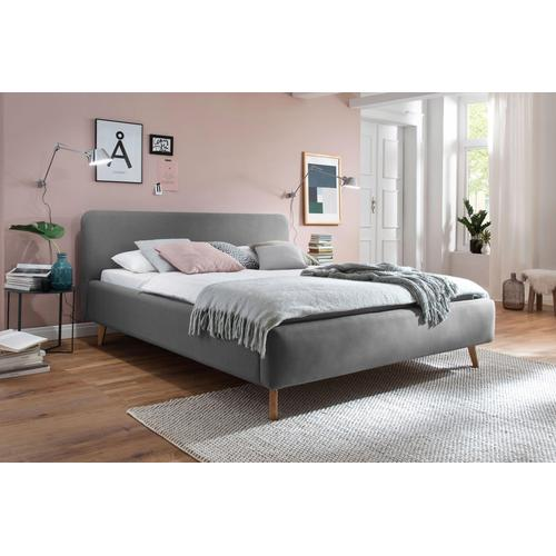 meise.möbel Polsterbett, Skandinavien Landhausstil grau Doppelbetten Betten Polsterbett