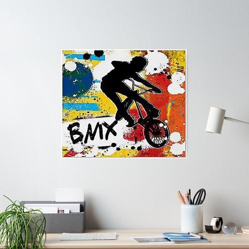 Wandfarbe Bmx Art Poster