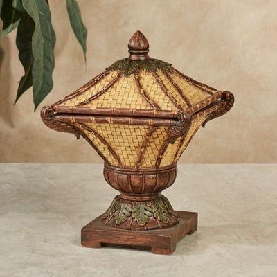Bamboo Exotics Decorative Covered Box Natural , Natural