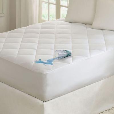Quiet Nights Waterproof Mattress Pad White, Full / Double, White