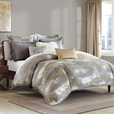 Graphix Comforter Bed Set Dark Gray, King, Dark Gray