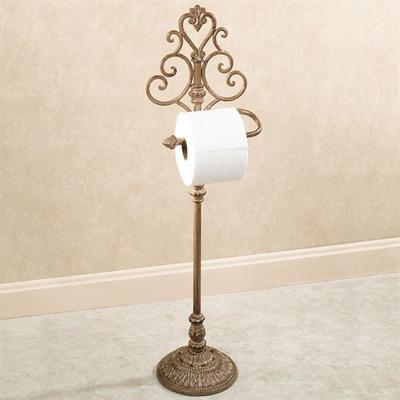 Aldabella Toilet Paper Stand , Satin Gold