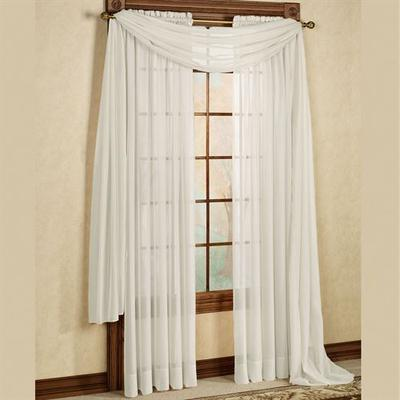Elegance Tailored Curtain Panel, 60 x 84, Ivory