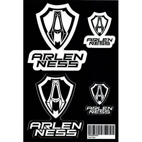 Arlen Ness Aufkleber Set, schwarz-weiss