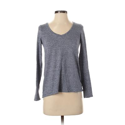 American Eagle Outfitters Pullover Sweater: Blue Solid Tops - Size X-Small