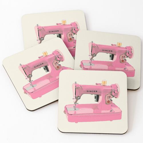 Die Nähmaschine Pink Singer Untersetzer