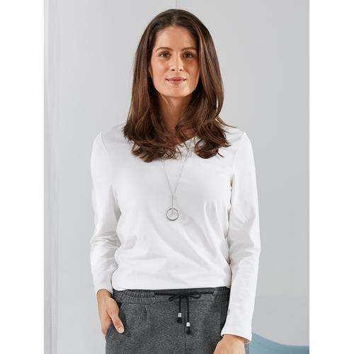 Damen Shirts Weiß einfarbig