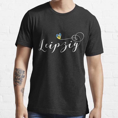 Leipzig, Leipzig Flagge, ich liebe Leipzig, Leipzig Herz, Sachsen Essential T-Shirt