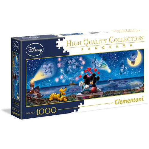 Clementoni Puzzle Panorama High Quality Collection - Disney Mickey und Minnie, Made in Europe bunt Kinder Ab 9-11 Jahren Altersempfehlung
