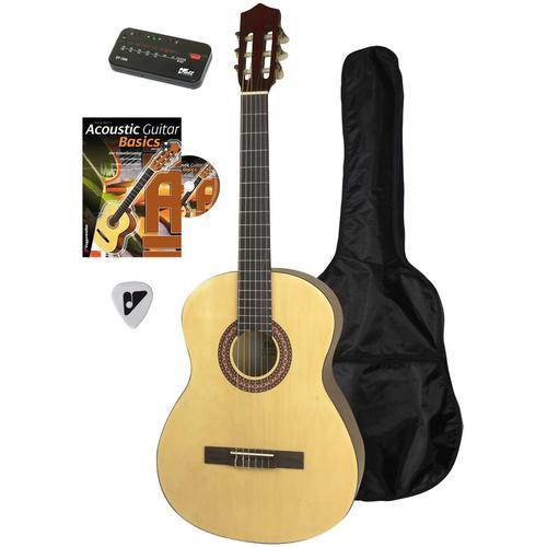 Voggenreiter Akustikgitarre Akustikgitarren-Set, 4/4 beige Gitarre Musikinstrumente