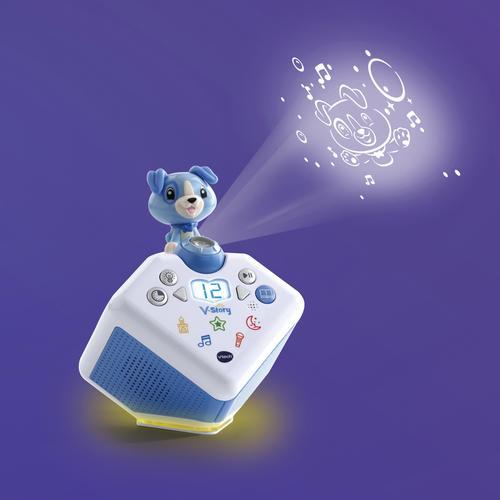 Vtech Lernspielzeug V-Story, die Hörspielbox blau, mit Lichtprojektion und Sound blau Kinder Activity Center Trapeze Baby Kleinkind