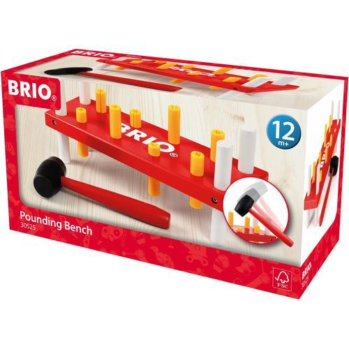 BRIO Steckspielzeug, FSC-Holz aus gewissenhaft bewirtschafteten Wäldern bunt Kinder Steck- Stapelspielzeug Baby Kleinkind Steckspielzeug