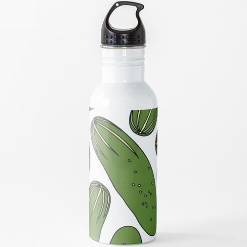 Grüne Gurken Gurken Wasserflasche