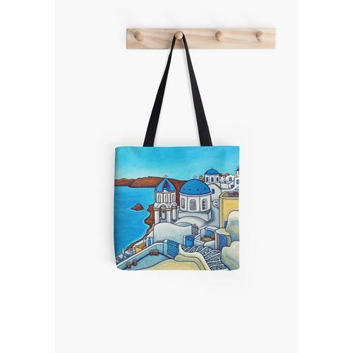 Farben von Santorini Tasche